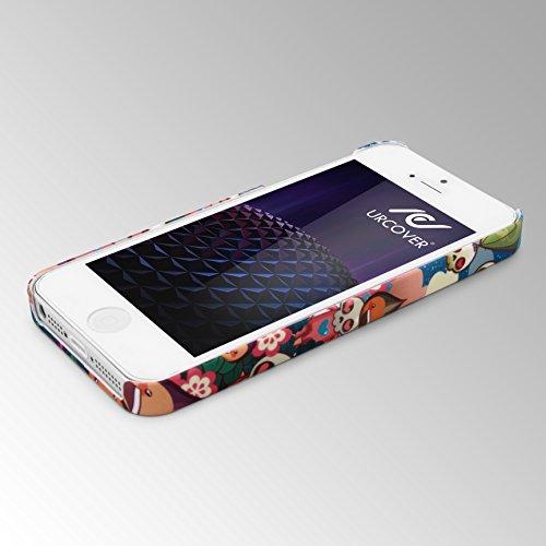 iPhone 5 / 5s / SE Coque, Urcover Étui Mandala PC Rigide [Motiv Big Flower] Téléphone Smartphone Apple iPhone 5 / 5s / SE Housse Antichoc Case Skulls