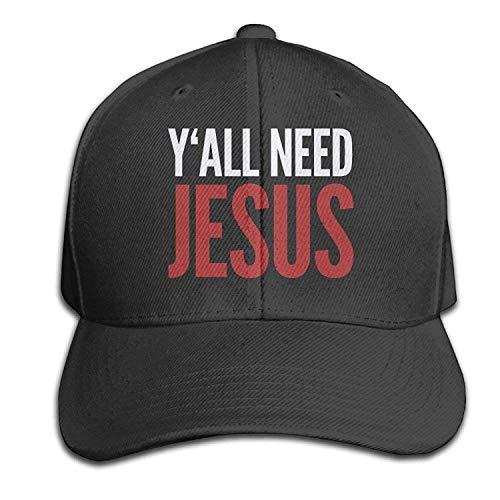 UUONLY Mode Erwachsene Baseball Caps Sie brauchen Jesus Christian Hüte für Reisen Angeln -