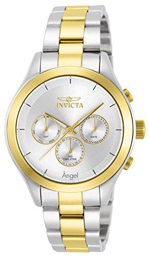Invicta Women's Angel Gold-Tone Steel Bracelet & Case Swiss Quartz Watch 13725
