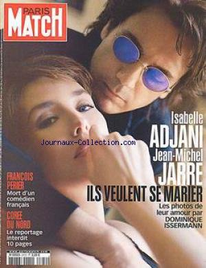 PARIS MATCH [No 2772] du 11/07/2002 - ISABELLE ADJANI ET JEAN-MICHEL JARRE VEULENT SE MARIER - DOMINIQUE ISSERMANN - FRANCOIS PERIER - ADIEU - COREE DU NORD.