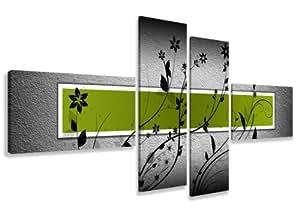visario leinwandbilder 6534 bild auf leinwand 160 cm fertig gerahmte bilder 4 teile. Black Bedroom Furniture Sets. Home Design Ideas
