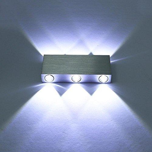 GUORZOM Wandleuchte LED6W Aluminium Strahler Energiespar Wohnzimmer Schlafzimmer Kinderzimmer Nachtlicht [Energieeinsparung A, B