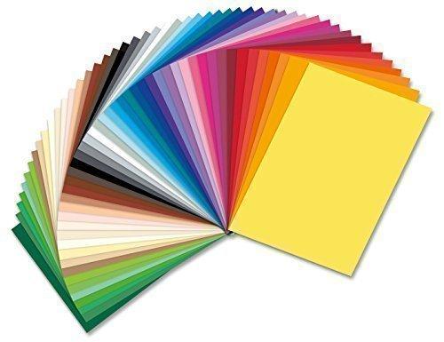 Preisvergleich Produktbild Tonpapier 130g Sonderedition 50 Bogen in 50 Farben 35x50cm