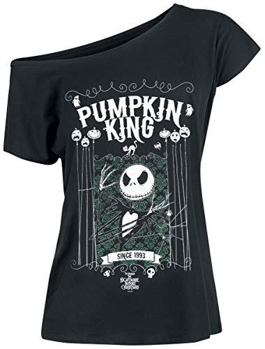 Nightmare before Christmas The Jack Skellington - Pumpkin King T-Shirt schwarz M (Christmas Shirt Before Nightmare)