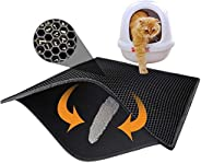 "Mumoo Bear Cat Litter Mat Litter Trapping Mat, 24""X15"" Honeycomb Double Layer Sifting Design Waterpr"