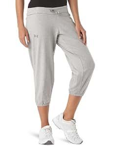 Under Armour Charged Cotton Caprice Pantalon 3/4 en coton femme True Grey Heather S