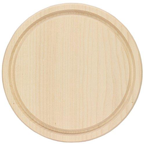 Brotzeitbrett rund Ø 24 cm, Abmaße: Ø 24 cm x 15 mm groß, ✓ in einem Stück hergestellt, Gewicht: ca. 400 g, 1 Stück ✓ Schinkenteller / Schinkenbrett Holz ✓ Schneidebrett ideal für Brotzeit Essen geeignet ✓ Frühstücksbrettchen neutral gefertigt aus unverleimtem Ahornholz ✓ Holzschneidebrett ohne scharfe Kanten ✓ hochwertige, qualitative Verarbeitung ✓ hervorragende Qualität zum selbstgestalten | gravieren | gestalten | bemalen | aufhängen | trendmarkt24 - 4409474