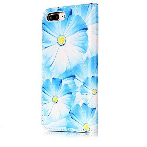EKINHUI Case Cover Für Apple IPhone 7 Horizontale Flip Case Cover Luxus Blume / Marmor Textur Premium PU Leder Brieftasche Fall mit Magnetverschluss & Halter & Card Cash Slots ( Color : G ) F