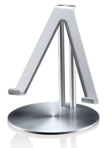 Galleria fotografica Just Mobile Upstand Desktop Stand Supporto In Alluminio per Apple iPad 2/3/4/Air 2/5/Mini/Mini 3, Argento