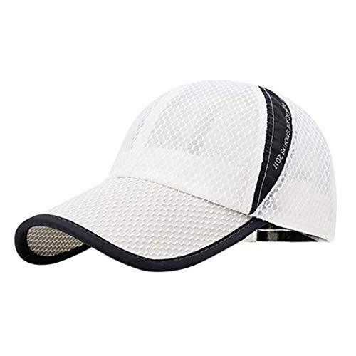 Damen Herren Baseball Cap Unisex Baseball Kappe Mütze Verstellbar Hip-Hop Hut für Sport SonnenhutTennis Golf Laufen Wandern Reisen Angeln