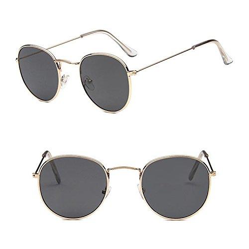 ProProCo Runde Ovale Sonnenbrille - Vintage Fashion Brille - Damen Herren Unisex Hippie Getönte...