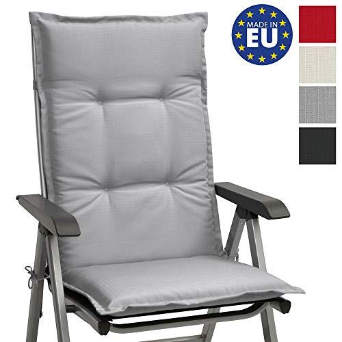 Beautissu cojín para sillas de Exterior, tumbonas, mecedoras o Asientos con Respaldo Alto Base HL 120x50x6 Placas compactas de gomaespuma...