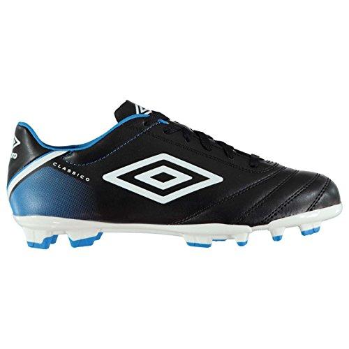 Umbro Homme Classico V FG Chaussures de football Noir/Blanc/Blu