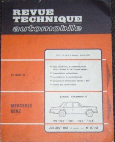 Revue Technique 267.2 Mercedes 230 SL-250 S-250 SE et 250 SL(63/68)