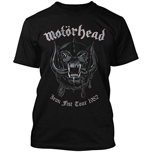 Motorhead Herren Band T-Shirt Iron Fist Tour 1982 - War Pig (S, Schwarz) (1982 T-shirt Tour)