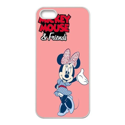 Mickey mouse durable tPU pour apple iPhone 5/5S, iPhone 5S, iPhone 5/5S coque case (noir/blanc)