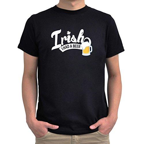 Maglietta Irish I had a beer Nero