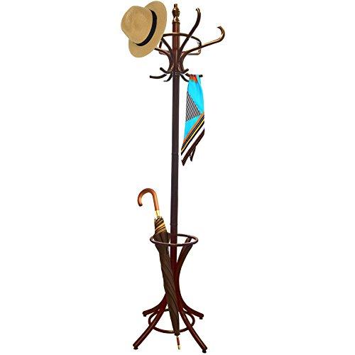 AB Tools Crochet 8 Hat & Manteaux Cintre Veste Parapluie mobilier Acajou