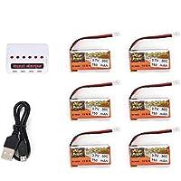 Ironheel 6pcs ZOP Poder 3.7V 750mAh 30C Lipo 1S batería Recargable con 6 en 1