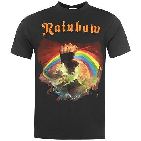 Official Herren Rainbow T Shirt Sommer Freizeit Kurzarm Rundhals Rising Large