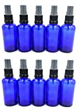 10 x Apothekerflaschen/Aromatherapie Glasflaschen Nachfüllflaschen mit GL18 Schwarz Sprüher/Zerstäuber