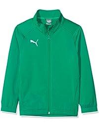 875675cc3f11 Puma Liga Sideline Poly Core Chaqueta, Todo el año, Infantil, Color Pepper  Green