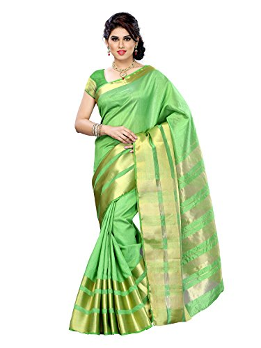 Mimosa Tassar Silk Saree (2069-Tus-Pgrn_Parrot Green)  available at amazon for Rs.849