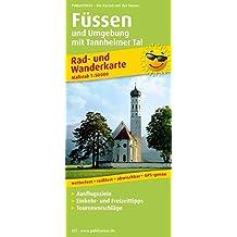 Füssen und Umgebung mit Tannheimer Tal: Rad- und Wanderkarte mit Ausflugszielen, Einkehr- & Freizeittipps, Nebenkarten Lechstausee und Tannheimer Tal, ... 1:50000 (Rad- und Wanderkarte / RuWK)