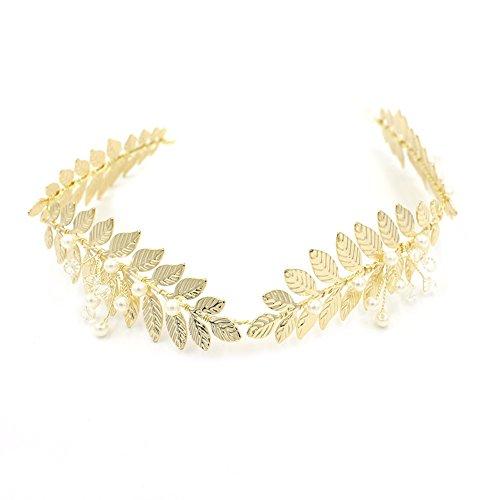 Griechischen Haarreifen Blattgold oumoutm römischen Brautschmuck Krone Haar (Kaiser Krone Römische)