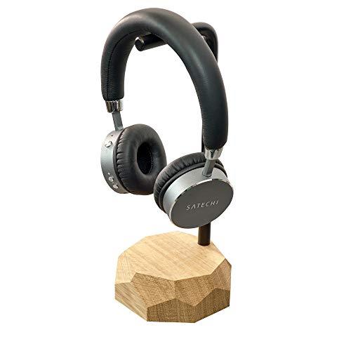 Kopfhörerständer - hölzerner Kopfhörerständer, Kopfhörerhalter, Kopfhörerständer aus Holz, Kopfhörerständer, Holzaufhänger für Männer, Geschenk für Gamer, Junge, Geek, für Ihn Eiche