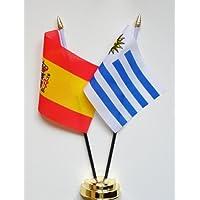 España y Uruguay amistad Bandera de mesa pantalla 25 ...