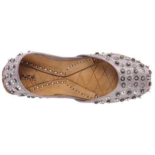 Indianer Is221 Unze Schuhe Silber Pumpen Bonn' Traditionelle Kinder Khussa Leder qqxnwUISH