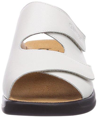 Ganter Monica, Weite G, Chaussures de Claquettes Femme Blanc (Blanc)