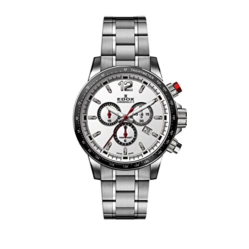 Edox Hommes Chronographe Quartz Montre avec Bracelet en Acier Inoxydable 10229-3M-AIN