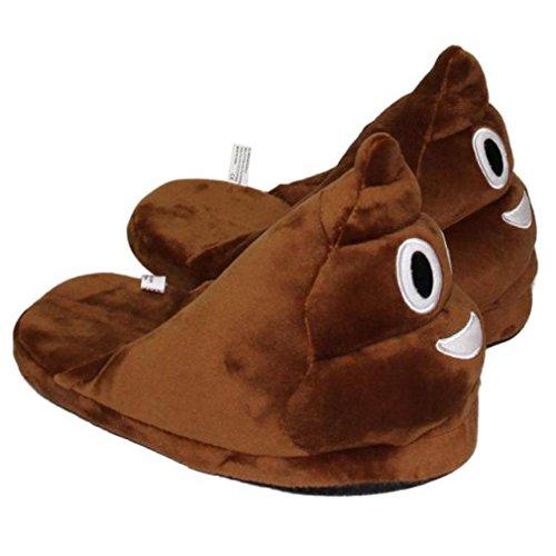DDLBiz® Pantofole, Uomo Donna, Unisex divertente Moda peluche pistoni creativi cacca Espressione mezzo pacchetto con pantofole in lana B
