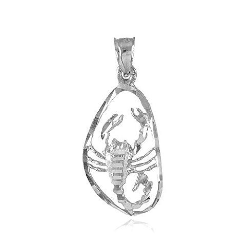 Argent sterling 925Superbe Scorpio Zodiac Charm pendentif Scorpion