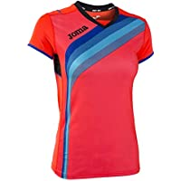JOMA T-SHIRT ELITE V FLUOR CORAL S/S S