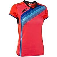 Joma Camiseta elite v coral fluor m/c para mujer