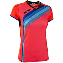 Joma - Camiseta Elite v Coral Fluor m c para Mujer d26e847515833