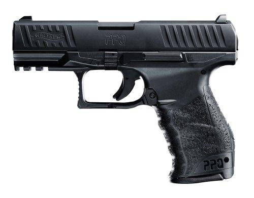 Softair Pistole Walther PPQ mit Ersatzmagazin schwarz, Federdruck