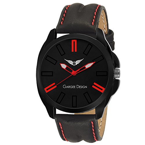 Gargee Design Analogue Black Dial Men's & Boy's Watch -2003