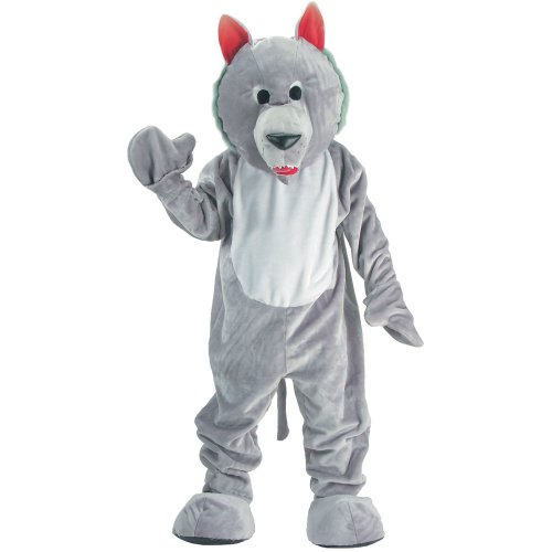 Dress Up America Hungriger Wolf Maskottchen Kostüm für Kinder
