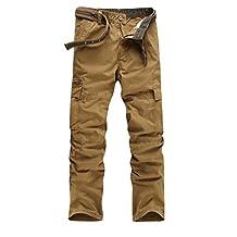Baymate Hombre Relajado Casuales Militar Estilo Cargo Pantalones