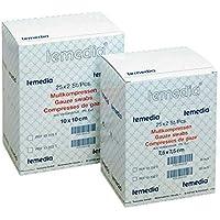 Holthaus Medical Mullkompresse Temedia, Kompresse Verbandmull Mullauflage, 12-f, 17-fädig, steril, 10x10cm 25x5St preisvergleich bei billige-tabletten.eu