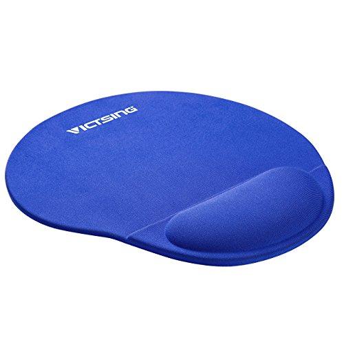 VicTsing Mauspad mit Handauflage aus Gel, 250 * 225 * 20mm rutschfeste mouse pad, (Blau)