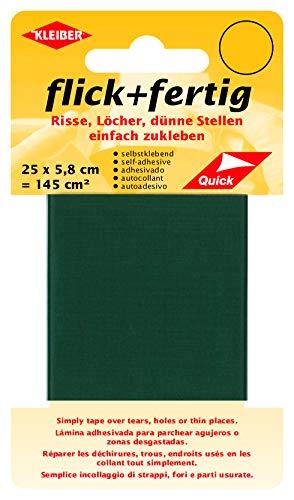 Kleiber 145 cm² Flick und Fertig Selbstklebendes Reparaturband aus Nylon, grün