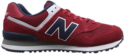 New Balance NBML574VBA Sneaker, Uomo Red/Navy D