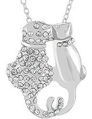 MESE London Collar Con Colgante De Gatitos De Plata - Elegante Caja de Regalo