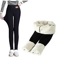 YEMOCILE dames zwart warme broek herfst winter wol fleece broek lamsvel kasjmier broek voor dunne dikke fluwelen vrouwen mode legging