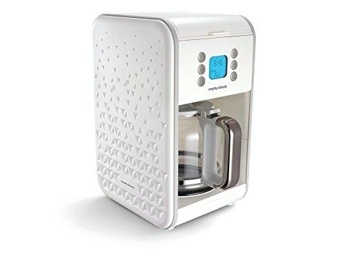 Morphy Richards Filter-Kaffeemaschine Prism 163001, Stahl, 1.8 liters, weiß